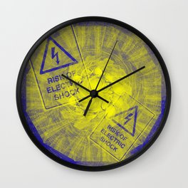 Abstract risk of electric shock Wall Clock