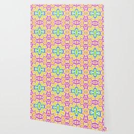 Modern Trendy Kaleidoscope Mosaic Pattern Wallpaper