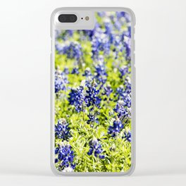 Texas Bluebonnets - Fields and Fields Clear iPhone Case