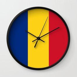 Romania Flag Romanian Patriotic Wall Clock
