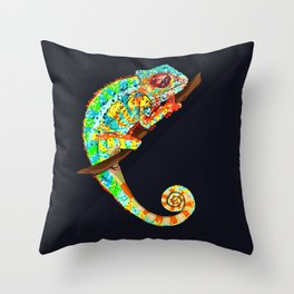 Color Changing Chameleon Throw Pillow