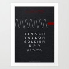 Tinker, Taylor, Soldier, Spy - MINIMALIST POSTER Art Print