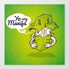 Manija, el arquero invatible Canvas Print