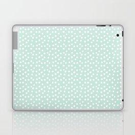 Mint Passion Thalertupfen White Pōlka Round Dots Pattern Pastels Laptop & iPad Skin