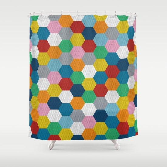 Honeycomb 3 Shower Curtain