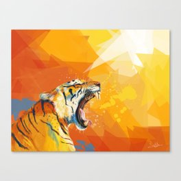 Tiger in the morning Canvas Print