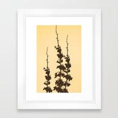 Florales · plant end 4 Framed Art Print