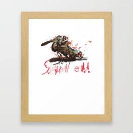 Squash em! Framed Art Print