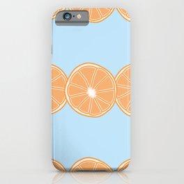 Half Orange Lines Pattern iPhone Case