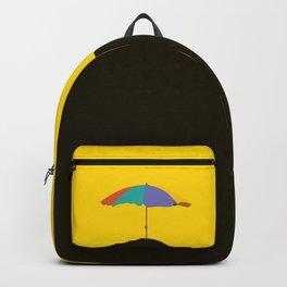 Colorful Parasol Black Yellow Background #decor #society6 #buyart Backpack