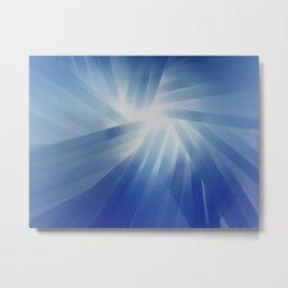 Blue Streaks of Light Metal Print
