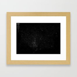 atNight / barcelona constellation Framed Art Print