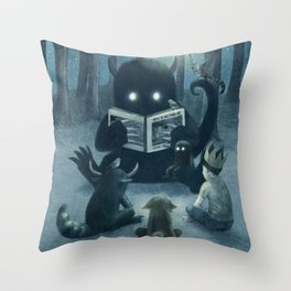 Reading Circle Throw Pillow