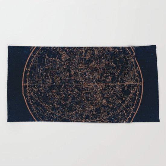 Constellations of the Northern Hemisphere Beach Towel