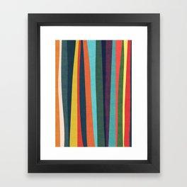 Mid-century zebra Framed Art Print
