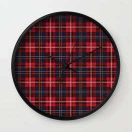Scottish Royal Modern Tartan Wall Clock