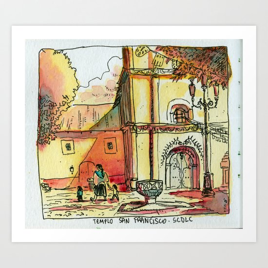 Templo San Francisco Art Print