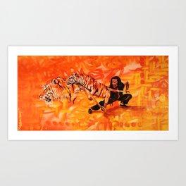 Roaring Tiger Broadsword Art Print