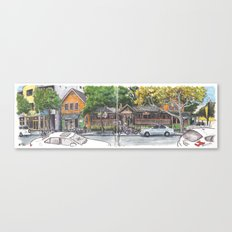 2nd st / orange court, davis panorama Canvas Print