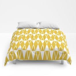 Mid Century Modern Diamond Pattern Mustard Yellow 234 Comforters