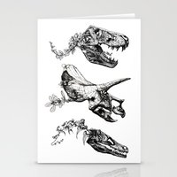 trex Stationery Cards featuring Jurassic Bloom. by Sinpiggyhead