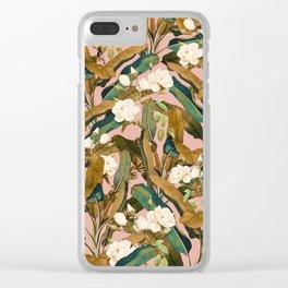 Summer Botanical Garden V Clear iPhone Case