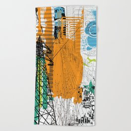 ADHD Thoughts 2 Beach Towel