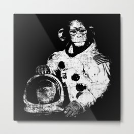Space Monkey -- There's Hope For Us All Metal Print