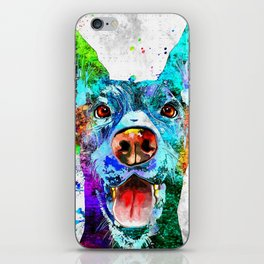 Doberman Pinscher Grunge iPhone Skin