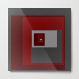 Red Squares Metal Print