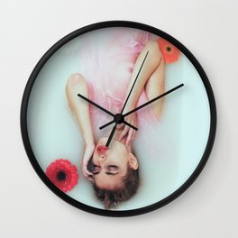 Floral bath Wall Clock