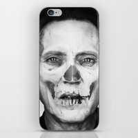 christopher walken iPhone & iPod Skins featuring CHRISTOPHER WALKEN SKULL by Maioriz Home