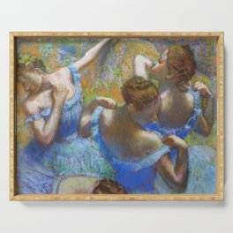 "Edgar Degas ""Dancers in blue"" Serving Tray"