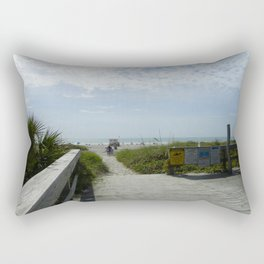 Path To The Beach Rectangular Pillow