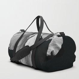 Hibiscus Drama - Black and Grey Duffle Bag