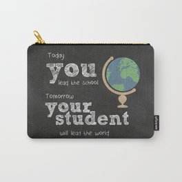 Lead the world | Teacher Appreciation Carry-All Pouch