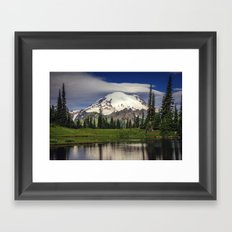 Mt Rainier in Washington Framed Art Print