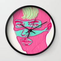 freedom Wall Clocks featuring Freedom by Vanessa Neves