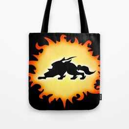 Amaterasu Logo- Black Tote Bag