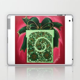 Gift box with an atlas bow in petrykivka style Laptop & iPad Skin