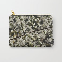 Early Spring White Blossoms Carry-All Pouch