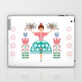 Scandinavian Flower Princess Laptop & iPad Skin