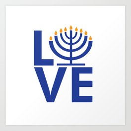 I Love Chanukkah Art Print
