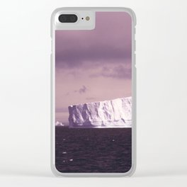 iceberg adrift Clear iPhone Case