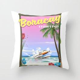 Boracay Philippines beach Throw Pillow