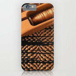 Black and Gold Twill iPhone Case