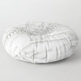 Mountain Road Linescape Floor Pillow
