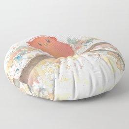 Birds in Music Floor Pillow