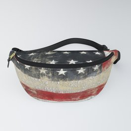 USA Flag ~ American Flag ~ Distressed Pattern ~ Ginkelmier Inspired Fanny Pack
