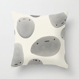Pebble Pals Throw Pillow
